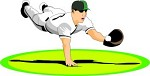 Diving Baseball Player